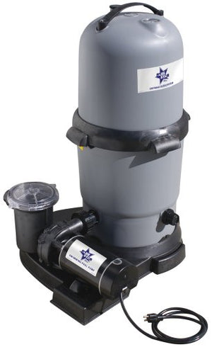Waterway BS5205160-6S Blue Star Clearwater II Cartridge Filter System with 1-1/2-Horsepower Pump, 150-Square Feet