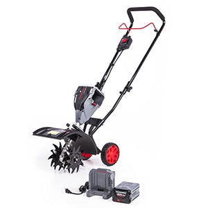 POWERWORKS 60V Brushless Tiller, 2.5Ah Battery and Charger Included TL60L2510PW