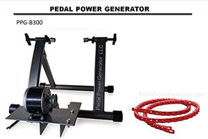 Pedal Power Bicycle Generator Emergency Backup Power System 300 Watts  12 Volts Direct Current