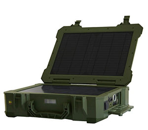 Risen Portable, Waterproof, Eco-friendly, Energy-efficient BX001 High Technology All-in-One 2 Solar Panel Solar Power Energy System/Case/Generators for Home Use, Military, Travel, Outdoor Activities, Emergency and Disaster Preparedness - Army Green Color