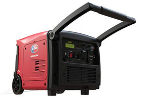 All Power America APG3500IS, 3500 Watt Quiet Portable Inverter Generator w/Electric Start Gas Powered & Parallel Function Ready, 3500W Red