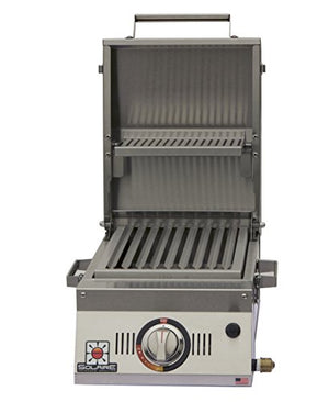 Solaire SOL-AA12A-LP Single Burner Tabletop Infrared Propane Gas Grill, Stainless Steel