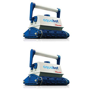 Aquabot Classic AB Automatic Robotic in Ground Wall Swimming Pool Cleaner Vacuum (2 Pack)