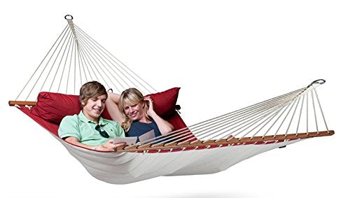 Coolaroo Chillax Alabama King Polypropylene Hammock w/Spreader Bar Kit Red Pepper