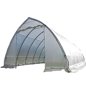 DELTA Canopies Large Walk-in Green Graden House Commercial Grade - 40'x20' Clear Greenhouse