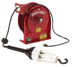 Reelcraft L 5245 A 163 6X Heavy Duty Light Cord Reel, 16 AWG/3 Conductors x 45'.3 AMP, Fluorescent Light, Cord Included