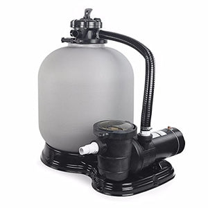 "GraceShop Max Suction 34.5ft Above Ground Swimming Pool Pump 4500GPH 19"" Sand Filter / 1HP Index Compatible"