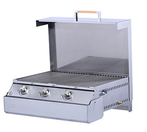 Dimplex Space Grill - Innovative Propane Gas BBQ Grill and Griddle with Three Burners for Outdoor, Patio, Deck or Balcony Use