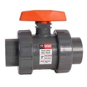 Hayward TB1400T 4-Inch PVC TB Series Ball Valve with Viton Seals and Threaded End Connection