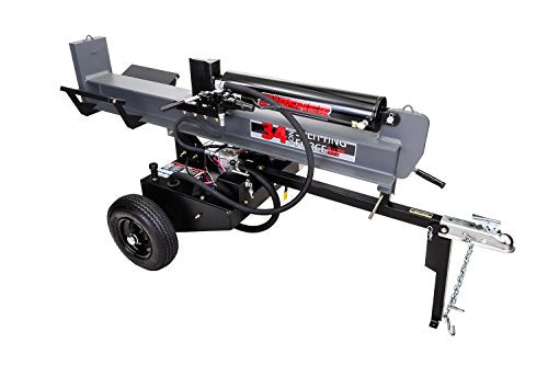 Swisher LSER11534 34 Tons Cold Weather Clutch with 12V Recoil Log Splitter, 11.5 hp, Black & Gray