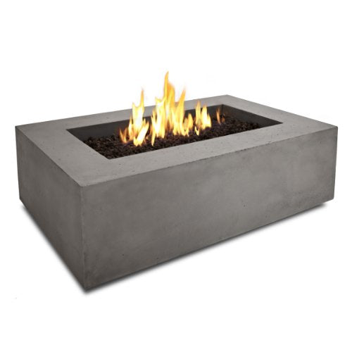 Real Flame T9650NG-GLG Baltic Rectangle Natural Gas Fire Table, Glacier Grey