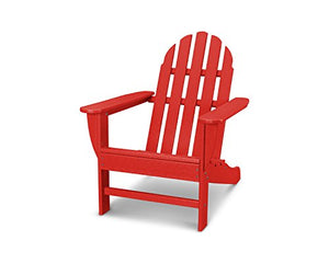 POLYWOOD AD4030SR Classic Outdoor Adirondack Chair, Sunset Red