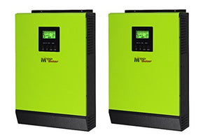 MPP SOLAR 4800w Pure Sine Wave Split Phase Power Inverter with mppt Solar Charger 80A DC 24V AC Output 120V 240V with 60A Utility Charger 50HZ or 60HZ