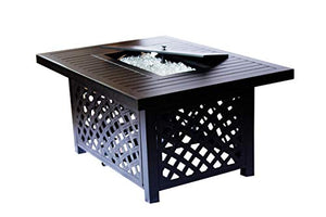 2nd Shade Minnetonka Aluminum Propane Fire Pit Round Fire Table Patio Outdoor