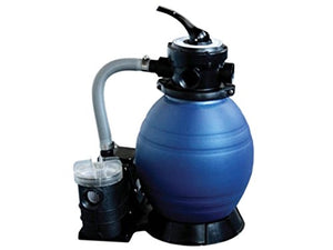 "By PoolCentral 12"" Top-Mount Above-Ground Swimming Pool and Spa Sand Filter and .25 HP Pump System"