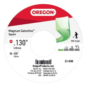 Oregon 21-030 Gatorline 5-Pound Spool of .130-Inch-by-600-Feet Square-Shaped String Trimmer Line