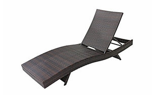 2-Pack All-Weather Modern Outdoor Patio Chaise Lounge Chairs (Brown)