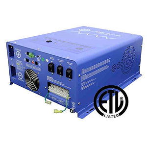 AIMS Power 4000 Watt Pure Sine Inverter Charger 24Vdc 240Vac Input to 120 & 240Vac Split Phase Output Listed to UL 458 CSA