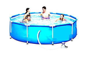 Skroutz Swimming Pool With Filter Pump System Above Ground Pool Floats 10'x30 Frame Outdoor Garden Water Sports Set
