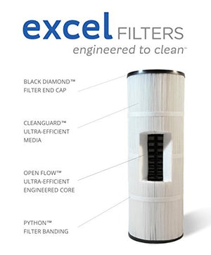 4PACK Excel Filters XLS-719 Pool Filter Cartridge replacement for Hayward CX870RE, C-7487, PA100N, FC-1270
