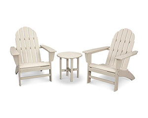 POLYWOOD Vineyard 3-Piece Adirondack Set (Sand)