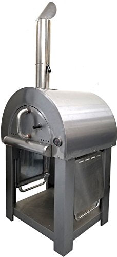 SDI Deals Stainless Steel Artisan Outdoor Wood Fired Pizza Oven BBQ Grill + Accessories
