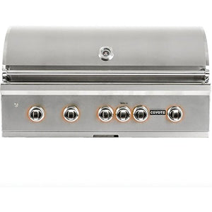 Coyote S-series 42-inch 5-burner Built-in Natural Gas Grill With Rapidsear Infrared Burner & Rotisserie - C1sl42ng