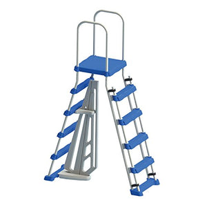 Swimline Above Ground Pool A Frame Ladder with Barrier for 48 Inch Pools | 87950