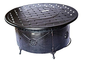 2nd Shade Chaska Aluminum Propane Fire Pit Round Fire Table Patio Outdoor