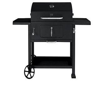 "Backyard Grill Charcoal Pan Adjustable Charcoal Loading Tray 61"" BBQ Outdoor Charcoal Grill with Heavy Duty Wheels & E-Book"