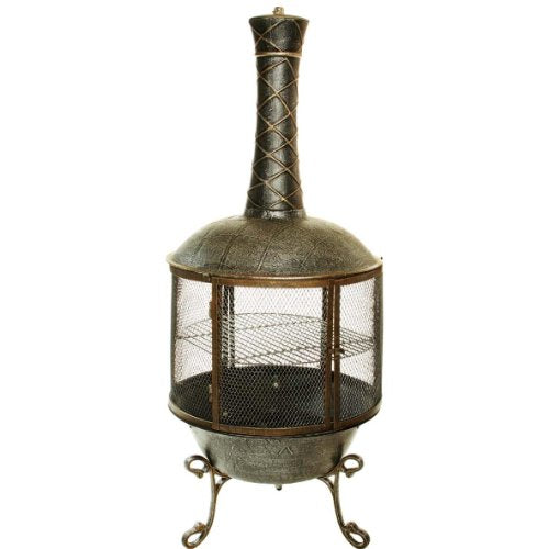 Oakland Living Tower Feast Chimenea, Antique Pewter