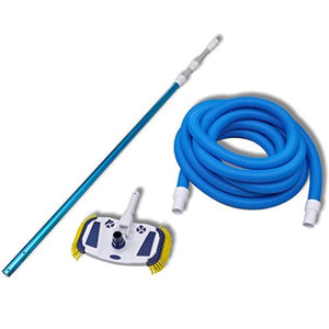 Alek...Shop Cleaning Tools Swimming Pool Vacuum Set Telescopic Pole Brush Head w/33 ft Hose