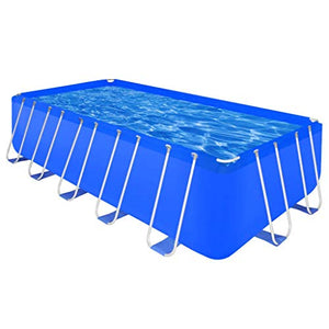 "Wuyue and buding Outdoor Above Ground Swimming Pool Rectangular for Family, Steel Frames Capacity Up to 1604 Gallons 17' 9"" x 8' 10"" x 4'"