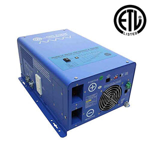 AIMS Power PICOGLF15W12V120V 1500W Pure Sine Inverter Charger, ETL Certified Conforms to UL458 Standards