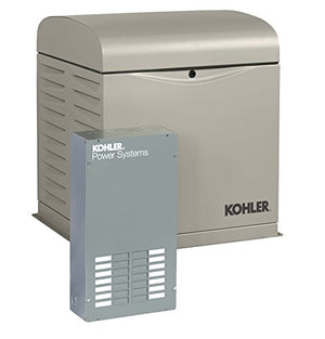 KOHLER Generators 12RESVL100 Amp Standby Indoor Generator, 12-Space with Load Center Automatic Transfer Switch, 12000-watt