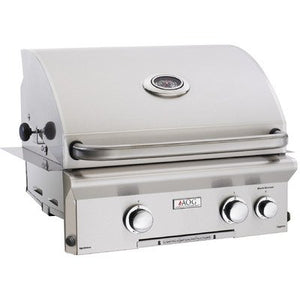 "24"" Built-In Natural Gas Grill with Rotisserie and Light"