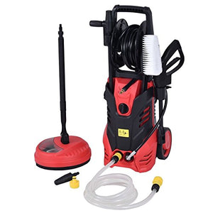 Moon_Daughter Red 2000W High Power Electric Pressure Washer 3000 PSI Flat & Jet Water Sprayer 2 GPM