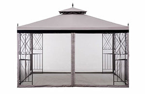 10x12 Gazebo Canopy Outdoor Patio Garden Backyard Dining Pergola Steel Frame Soft Top with Netting