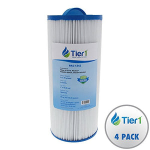 Tier1 Jacuzzi J300 6541-383, Pleatco PJW60TL-OT-F2S, Filbur FC-2715, Unicel 6CH-961 Comparable Replacement Spa Filter for J300 Series Jacuzzi's (4 Pack)