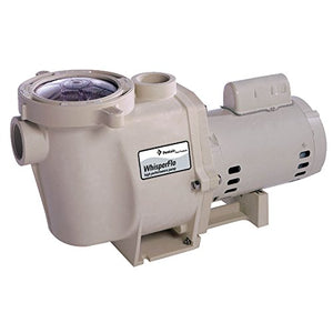 Pentair 011520 WhisperFlo High Performance Energy Efficient Single Speed Up Rated Pool Pump, 2 1/2 Horsepower, 208-230 Volt, 1 Phase