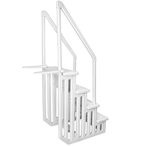 32 Inch Safety Step Above Ground Swimming Pool Ladder/W Handle Slip Prevent