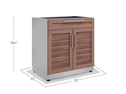 New Age 65603 Outdoor Kitchen 32 Quot Bar Cabinet In Stainless