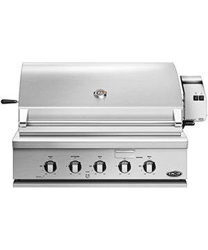 DCS Built-In Traditional Gas Grill with Rotisserie (71302) (BH1-36R-L), 36-Inch, Propane