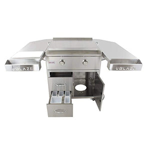 Blaze 30-Inch Freestanding Gas Griddle with Shelf Kit (BLZ-GRIDDLE-LTE-LP-BLZ-GRIDDLE-LTE-CART), Propane