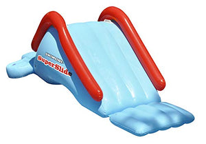 "94"" Blue and Red Water Sports Inflatable Super Slide Swimming Pool Toy"