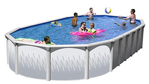 Ridge View Slim Oval Above Ground Swimming Pool Package 33 ft. x 18 ft. x 52 in.