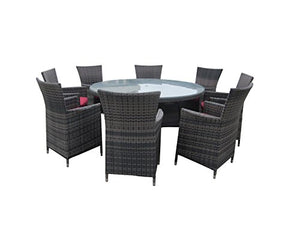 9 Piece Wicker Dining Sets Wicker Patio Furniture Red