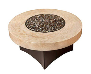 "Gas Fire Pit Table Oriflamme Tuscan Stone. The Award Winning Leader in Outdoor Gas Fire Pit Tables. (42"" Round)"