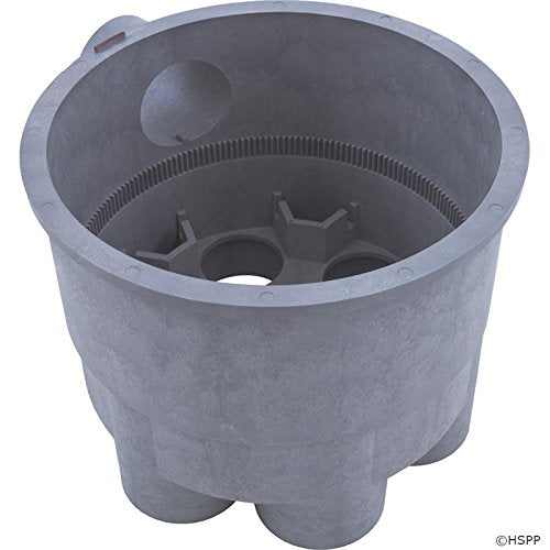 "A&A 541763 2"" Bottom Housing for 6-Port Low Profile Valve- Gray"
