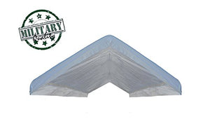 12' X 20' Vinyl Canopy Top Replacement Cover for Frames 10' x 20' (See Images) 18 Mil -White